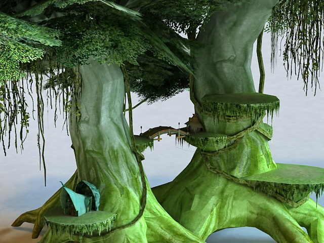 elf tree house 3d model 3ds max files free download