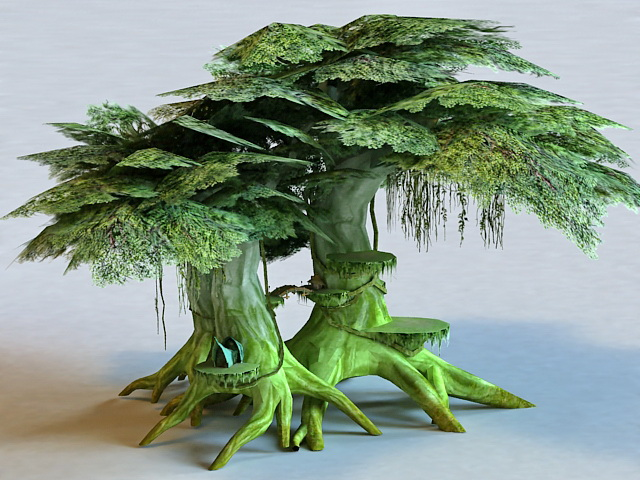 Elf Tree House 3d model