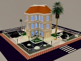 Cartoon Apartment 3d model