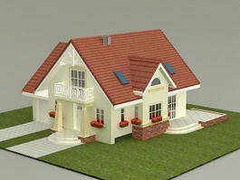Small House Plan 3d model