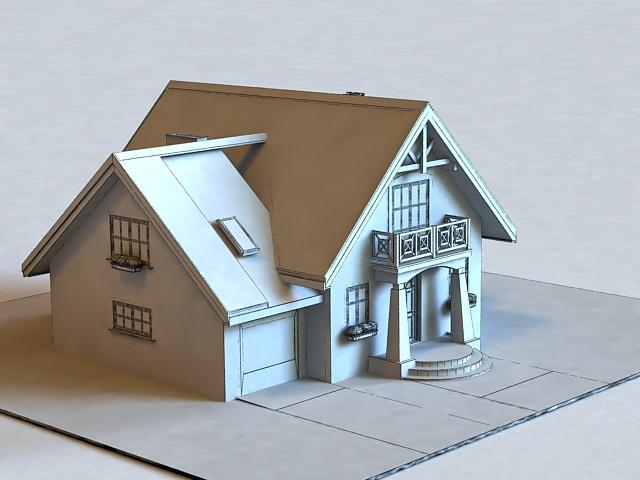 Small House Plan 3d Model Cadnav
