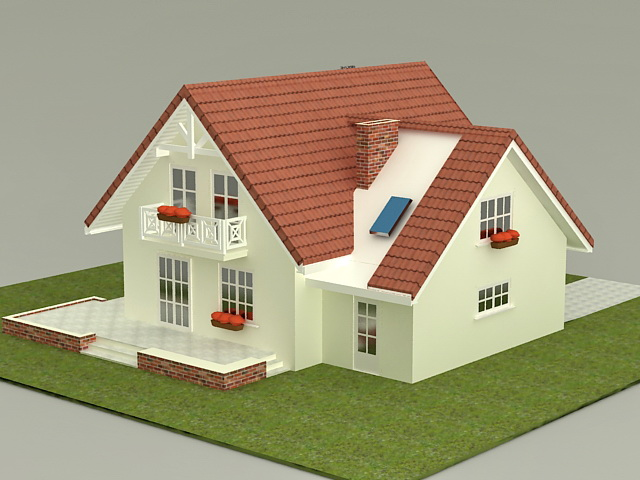 Small House Plan 3d Model 3ds Max Files Free Download