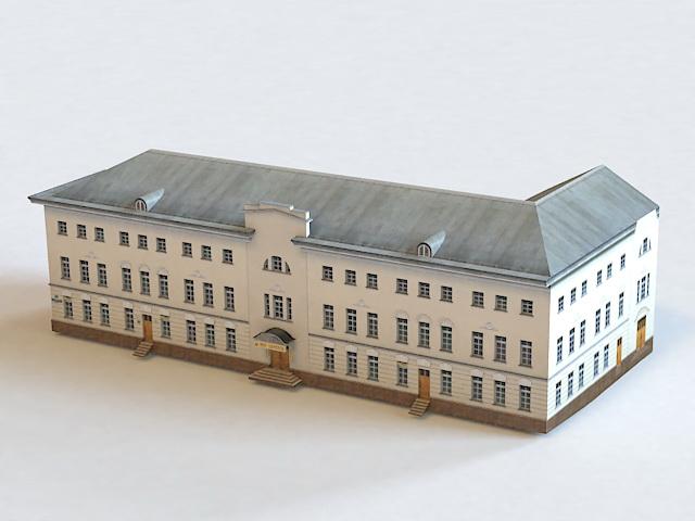 Ostozhenka Moscow Building 3d model