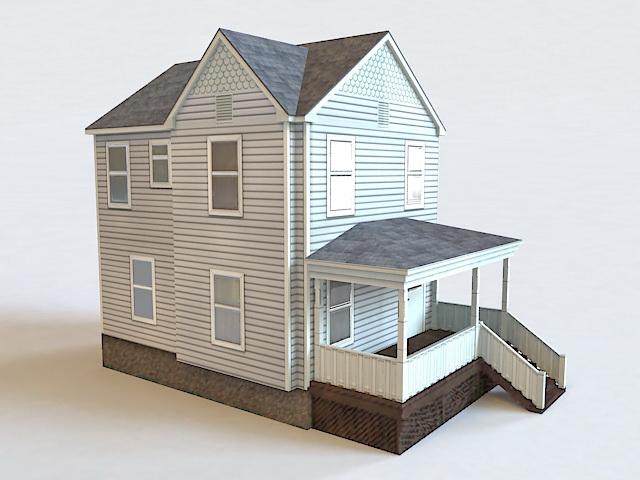 Tiny Cottage House 3d model