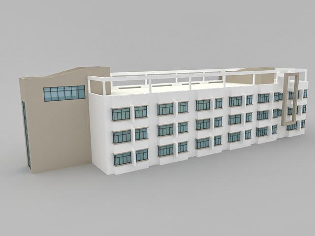 Small Apartment Building 3d model