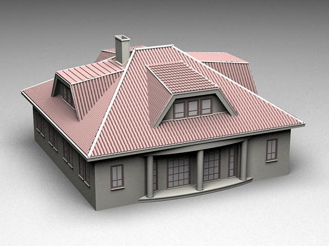 Historical Mansion House 3d model