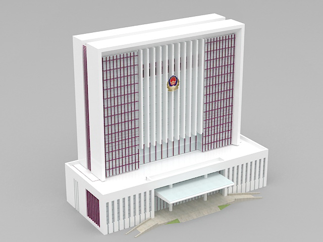 China Government Office Building 3d model