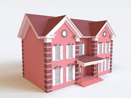 Red Brick House 3d model