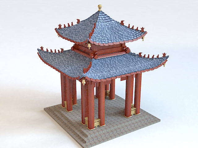 Chinese Pavilion Architecture 3d model