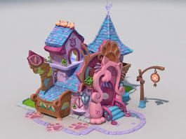 Cartoon Pet Store 3d model