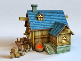 Medieval Blacksmith Shop 3d model