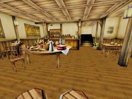 Medieval Restaurant Interior 3d model