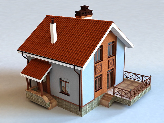 Small Cottage House 3d model