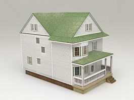 Cottage Tiny House 3d model