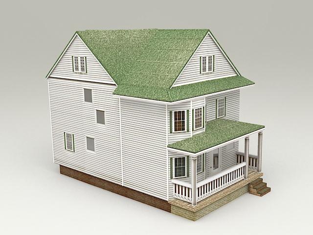 Cottage Tiny House 3d model