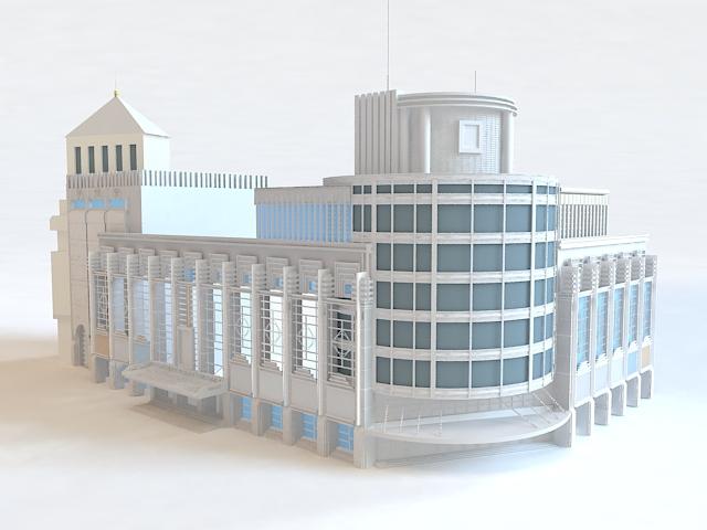Department Store Exterior 3d model