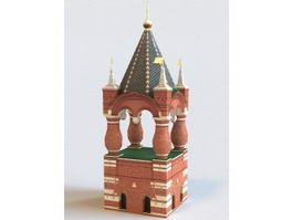 Russia Red Tower 3d model