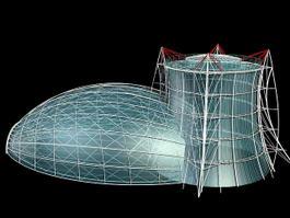 Transparent Glass House 3d model