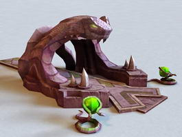 Temple of the Snake Entrance 3d model