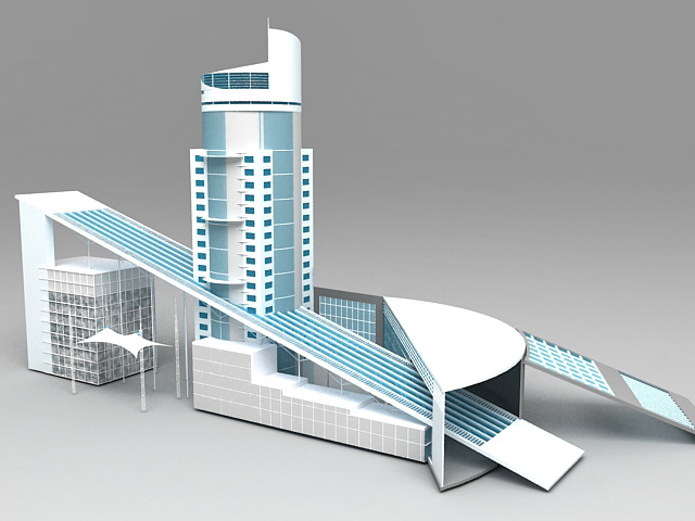 Business Center Buildings 3d model