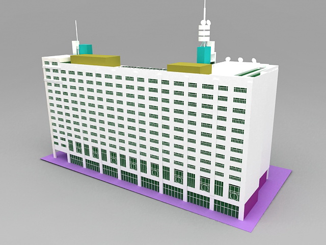 Modern Hotel Buildings 3d model 3ds Max files free download