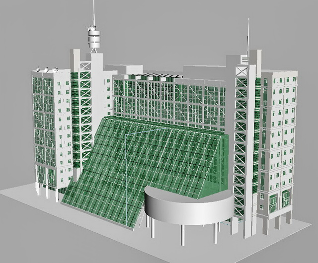 Modern hotel buildings 3d model 3ds max files free - 3d max models free download exterior ...