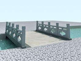 Landscape Footbridge 3d model