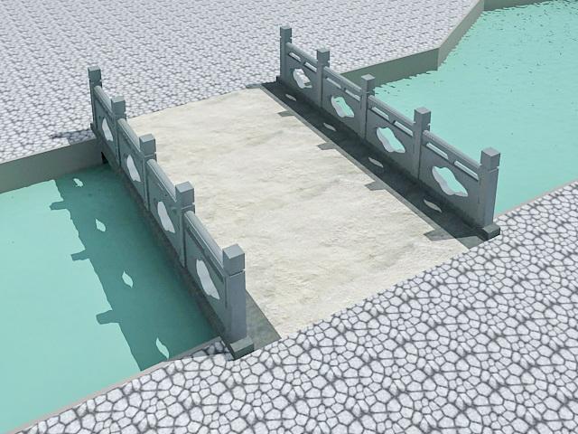 Landscape Footbridge 3d model