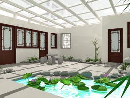 Small Roof Garden Ideas 3d model