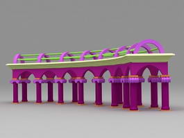 Colonnade Architecture 3d model