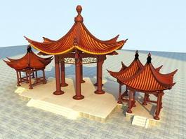 China Pavilions 3d model