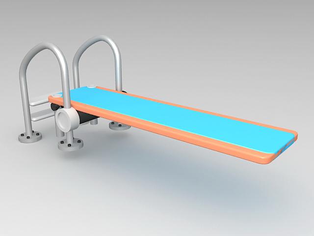 Swimming Pool Diving Board 3d Model 3d Studio Files Free Download Modeling 38280 On Cadnav