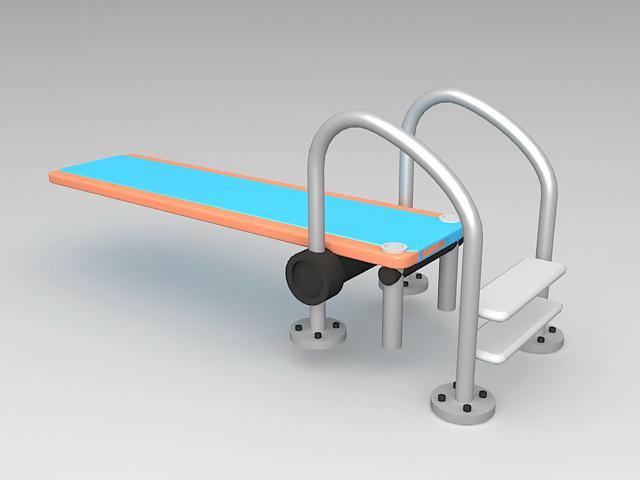 Swimming Pool Diving Board 3d model