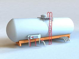 Oil Storage Tank 3d model