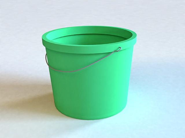 Plastic Pail 3d model