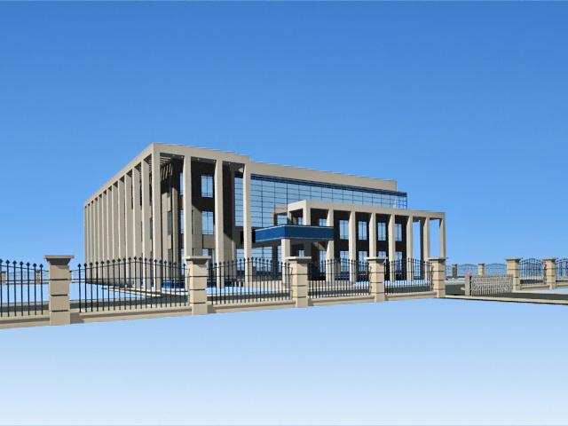Suburban Office Park 3d model