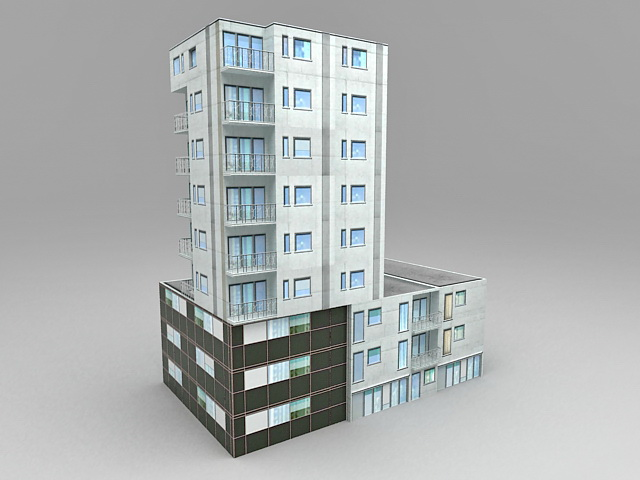 Residential Commercial Building Design 3d model