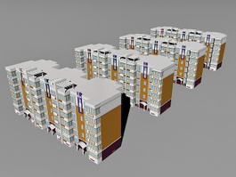 Modern Residential District 3d model