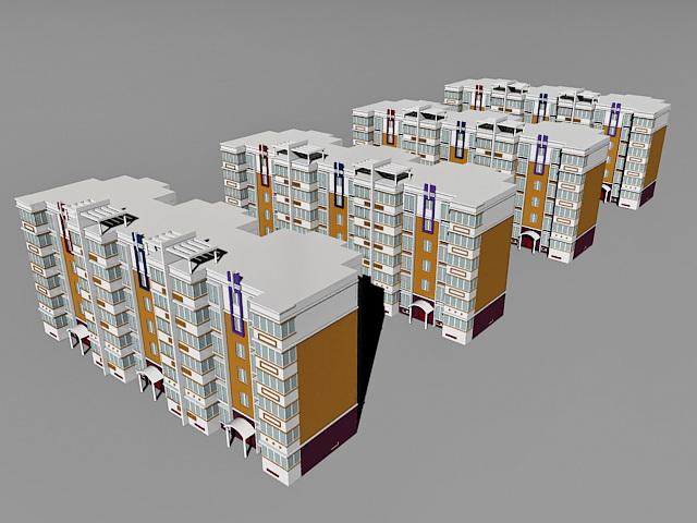 Modern Residential District 3d model