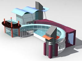 Glass House Design 3d model