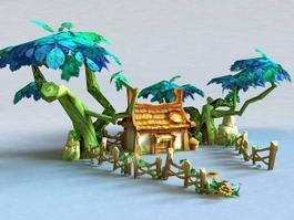 Anime Temple 3d model