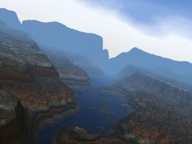 Grand Canyon with River 3d model