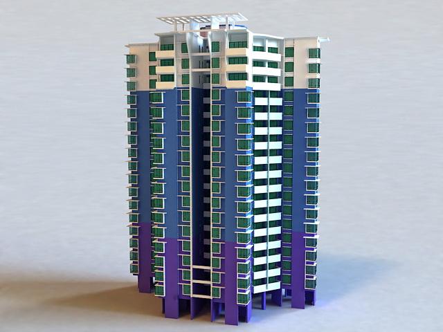 Condominium Complex 3d model