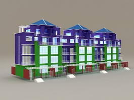 Modern Terraced Houses 3d model