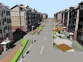 Residential Street 3d model