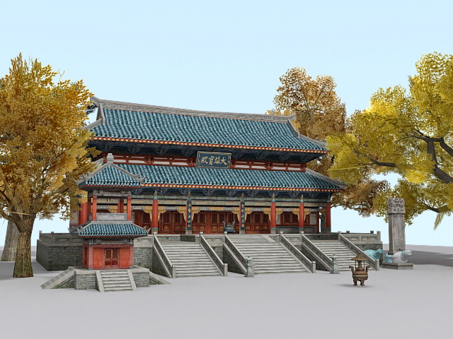 Chinese Buddhist Temple 3d model