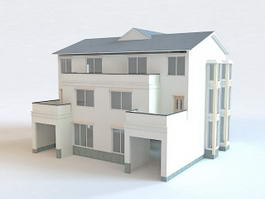 Modern Terrace House 3d model