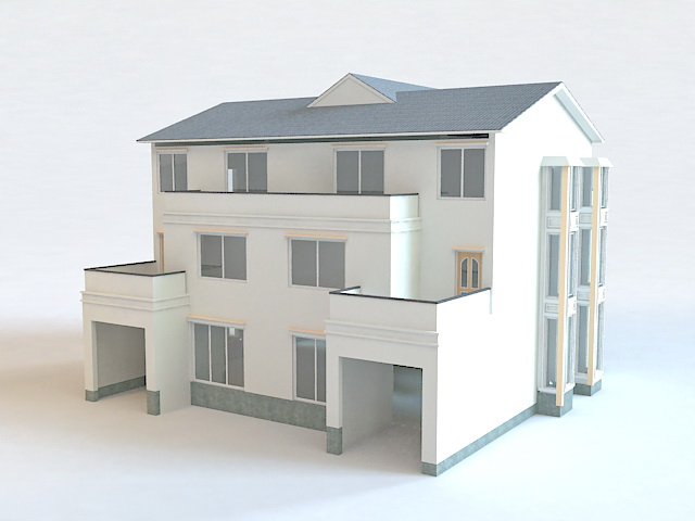 Modern terrace house 3d model 3ds max files free download - 3d max models free download exterior ...