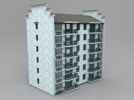 China Apartment Building 3d model