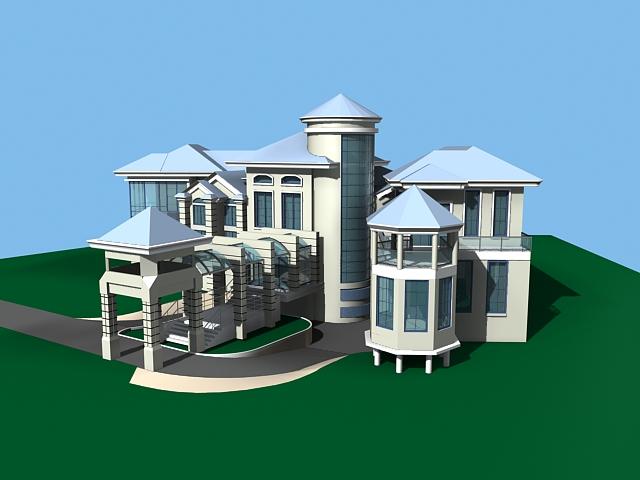 Country villa 3d model 3ds max files free download for Villas 3d model